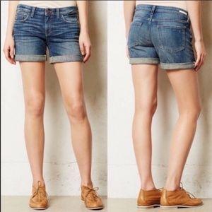 Pilcro & The Letterpress Cuffed Jean Shorts Sz 28